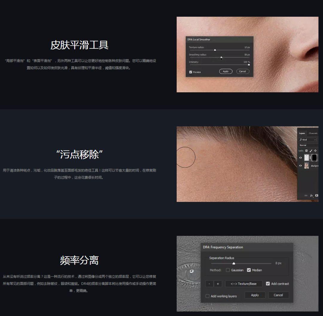 PS人脸精修插件DR4.5加强版  影视海报设计必备